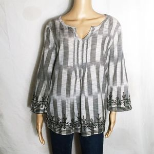 Lucky Brand Tunic Top with embroidered details XL